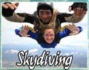 Skydiving gift voucher